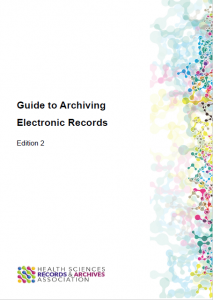 A picture of the front cover of the e-Archiving guide.